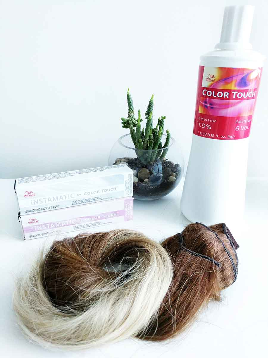 Productos utilizados: Instamatic by Color Touch de Wella.