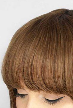 Flequillo (pava) de cabello natural