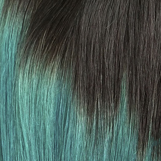 OMBRE #1B/TEAL (Negro Natural con Teal)